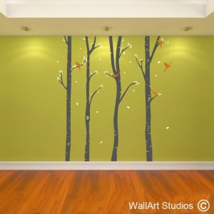 Birch Forest, trees wall decals, wall art stickers