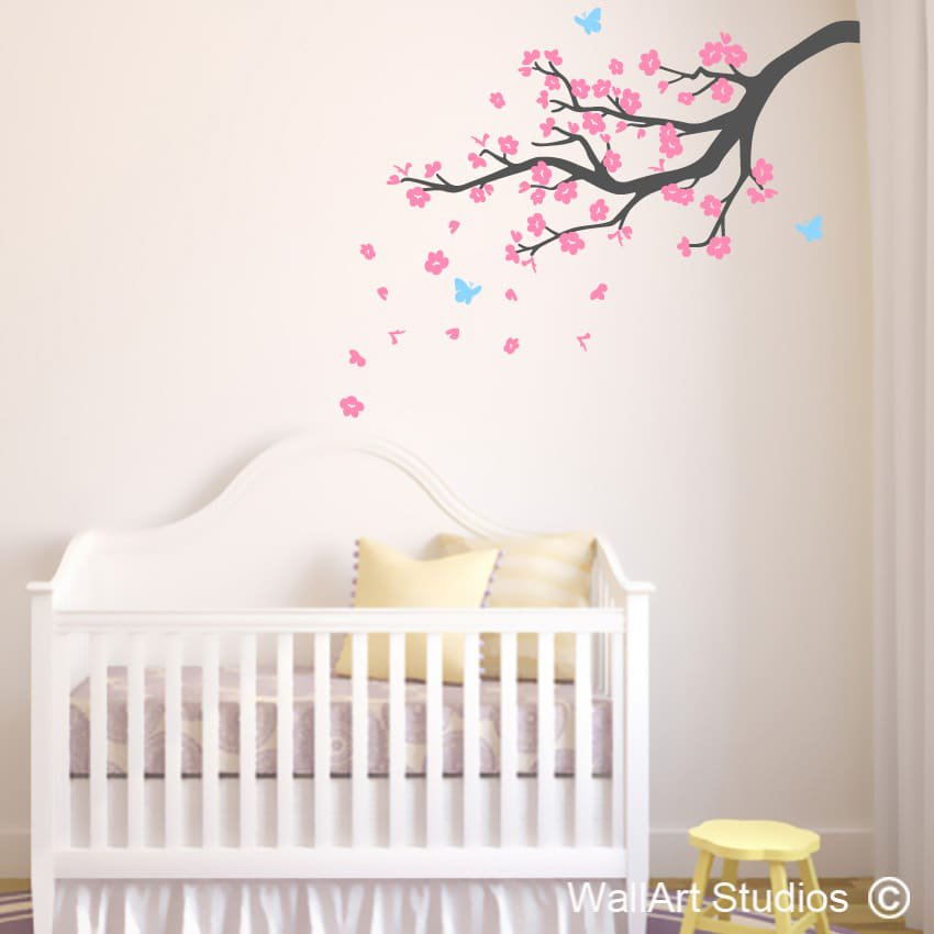 blossom branch wall art stickers | wall art studios uk