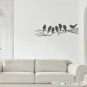 Birds on a Branch Wall Art Decals, Corporate, Custom, Trees