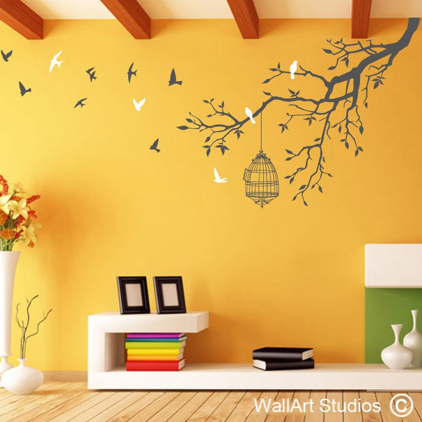 Bird Wall Art Stickers | Butterfly Wall Art Stickers | Wall Art Studios