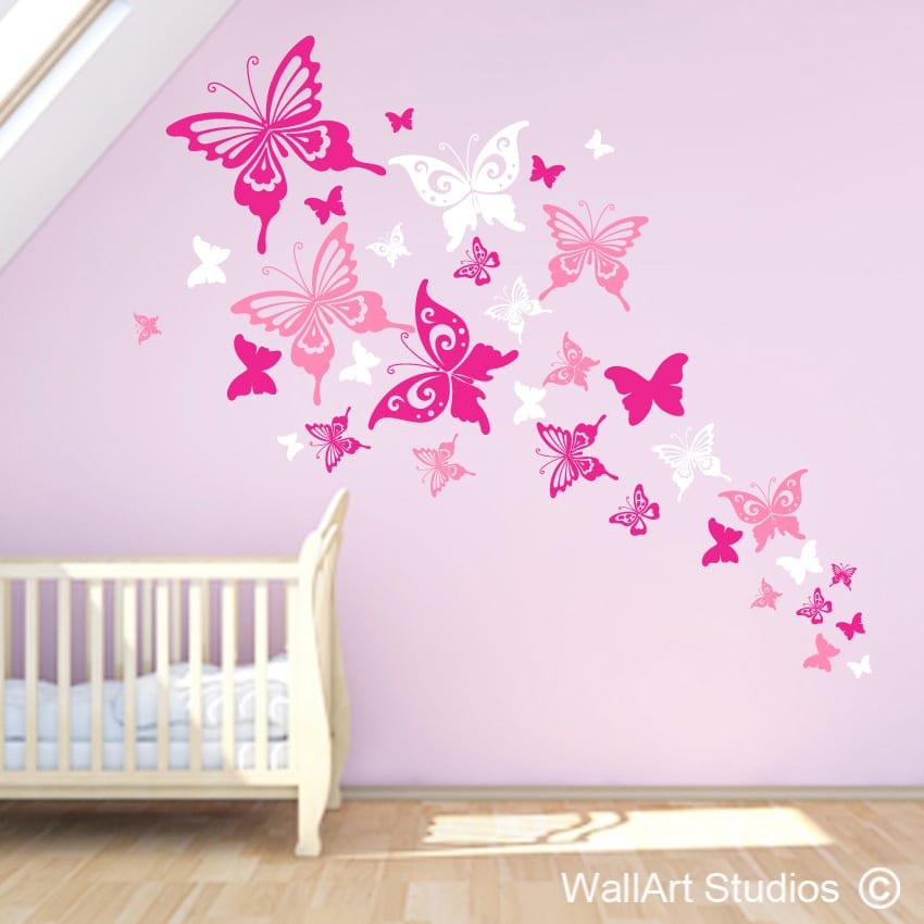 bird wall art stickers butterfly wall art stickers. Black Bedroom Furniture Sets. Home Design Ideas