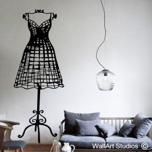 Wireframe Dressmakers Wall Art Decals
