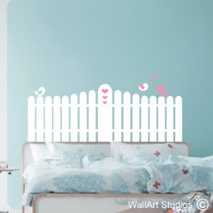Picket Fence Wall Art Decals