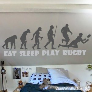 Rugby-lution Wall Art Stickers, Sports, Boys, Rugby, Custom