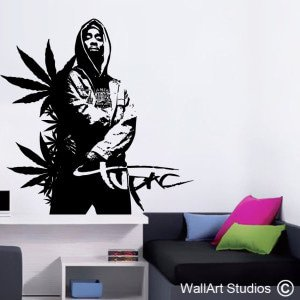 Tupac Wall Art Decals