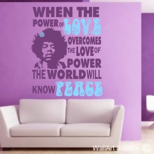Hendrix Love Wall Art Decals