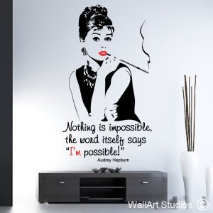 Audrey Hepburn Wall Art Decals