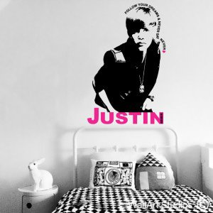 Justin Bieber Wall Art Stickers