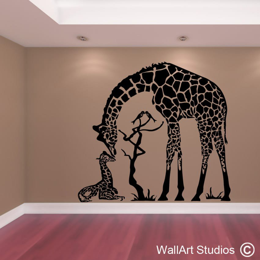 Giraffe Love Wall Art Sticker