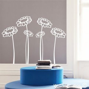 Whimsical Daisy's Wall Art Stickers