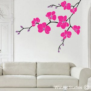 Orchid Branch Wall Art Stickers