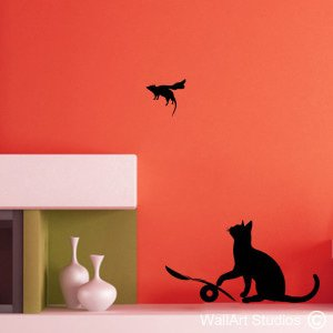 Cat & Mouse Wall Art Stickers, Banksy, Custom, Corporate