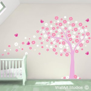 Blowing Blossoms Wall Art Stickers