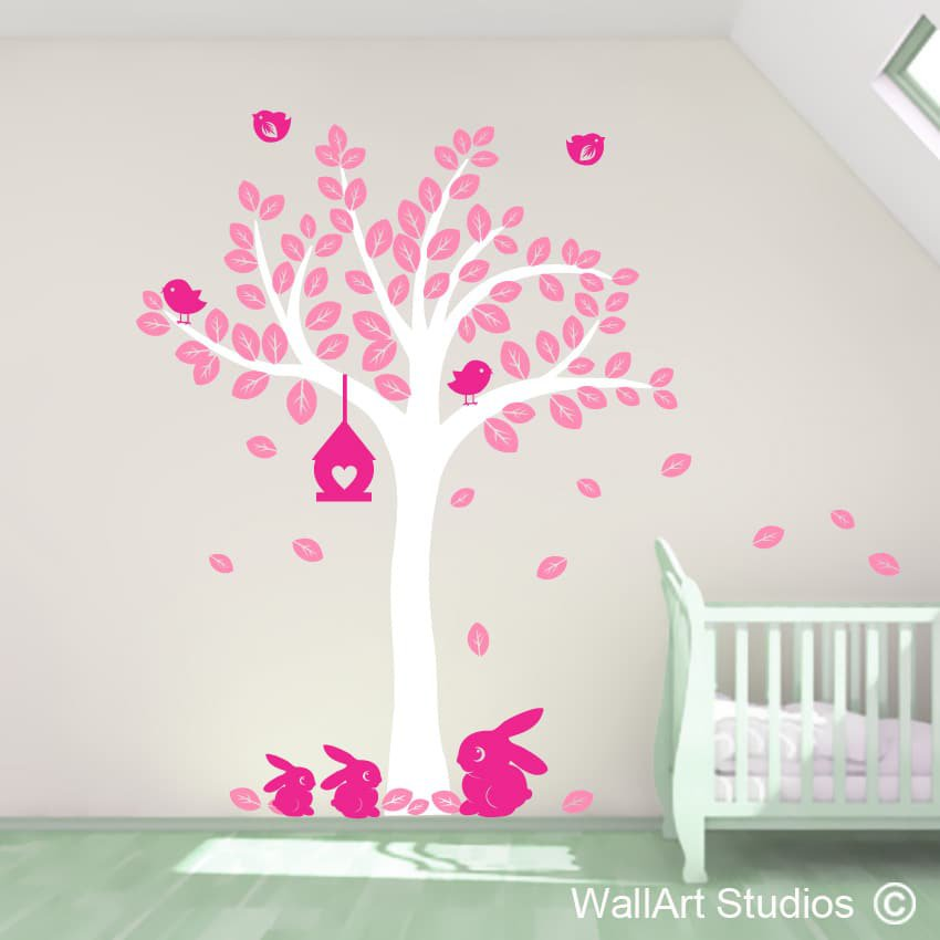 Bunny Tree Wall Art Decals Part 59