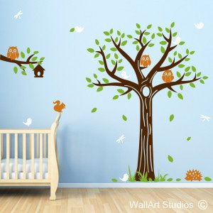 Forest Creatures Wall Art Stickers
