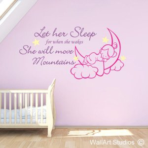 Let Her Sleep Wall Art Stickers