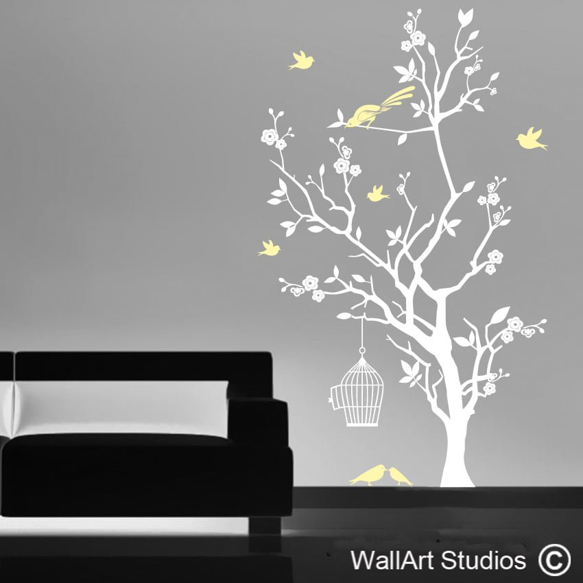 Blooming Cherry Tree Wall Art Decals Studios