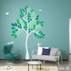 Quirky Tree Wall Art Stickers