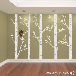 Forest with Owl Wall Art Stickers