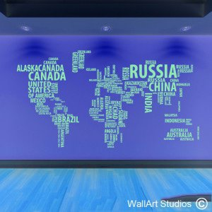 World of Words Wall Art Decals