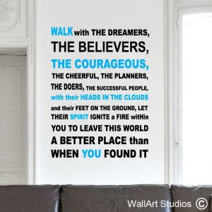 Walk With Dreamers Wall Art Decals