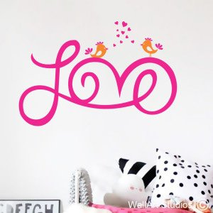 Love Wall Art Stickers, Hearts, Quotes, Valentines
