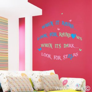 Rainbows & Stars Wall Art Stickers