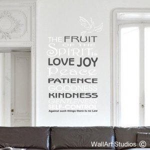 Galatians 5:22-23 Wall Art Stickers
