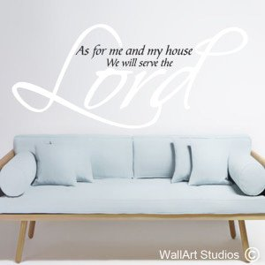 Serve the Lord Wall Art Stickers