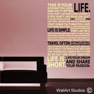 This Is Your Life Wall Art Decals