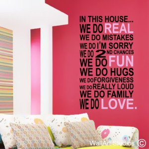In This House Wall Art Decals