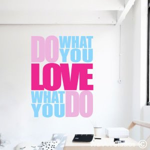 Do What You Love Wall Art Stickers