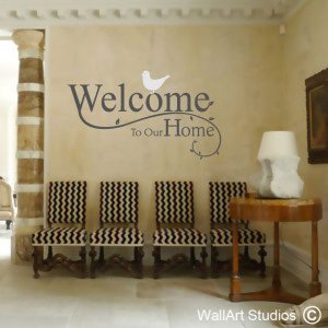 Welcome to our Home Wall Art Stickers