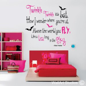 Mad Hatter Wall Art Stickers