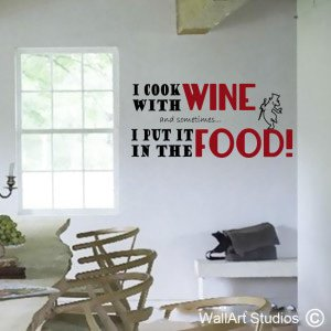 Linea Cooking with Wine Wall Art Decals