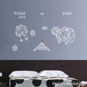Asteroids Wall Art Stickers, Games, Star Wars, Boys, Decals