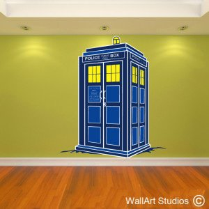 Leo's Tardis Wall Art Decals, Dr Who, Custom, Corporate