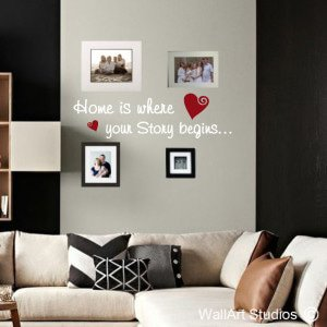 Home is Where Wall Art Decals
