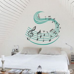 Music Swish Wall Art Decals