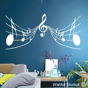 Musical Notes Wall Art Stickers