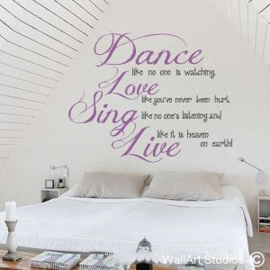 Dance Like No-One is Watching Wall Art Stickers
