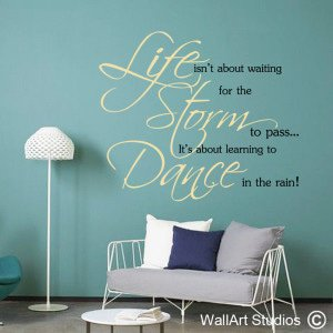 Dancing in the Rain Wall Art Decals