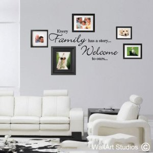 Family Story Wall Art Decals