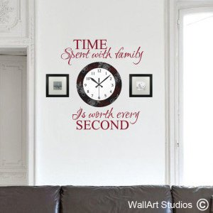 Time Spent With Family Wall Art Stickers