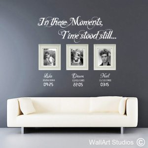 Moments in Time Wall Art Stickers