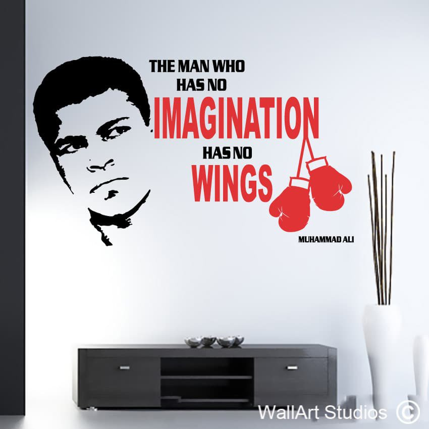Muhammad Ali Quote Wall Decal Impossible Is Not A Fact Boxing Poster Sport Boxer Gift Room Mural Vinyl Sticker Gym Decor Clings For Walls Cloud Wall Decals From Joystickers 12 66 Dhgate Com