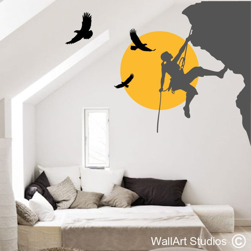 Superior Climbing With Eagles Wall Art Stickers Part 27