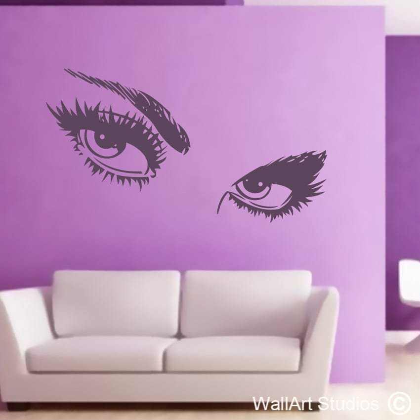 Wall Art Stickers Eyes : Wall art decor decorative home decals studios