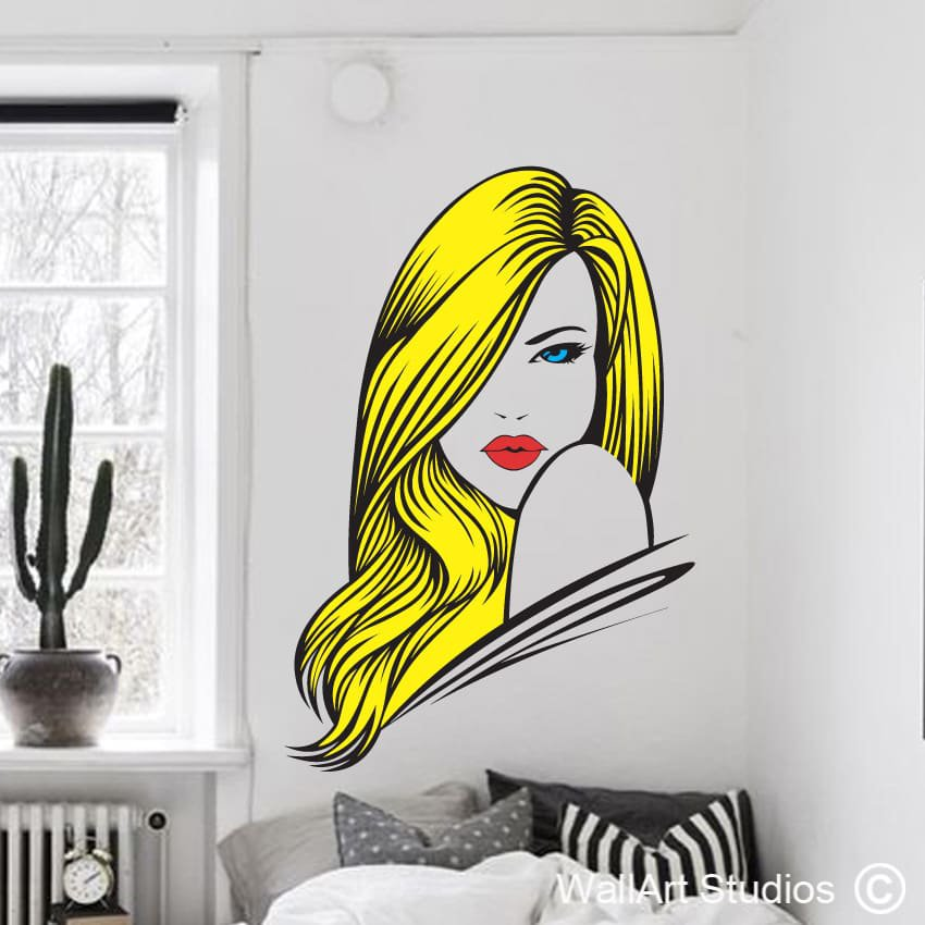 Charmant Gorgeous Hair Pop Wall Art Stickers