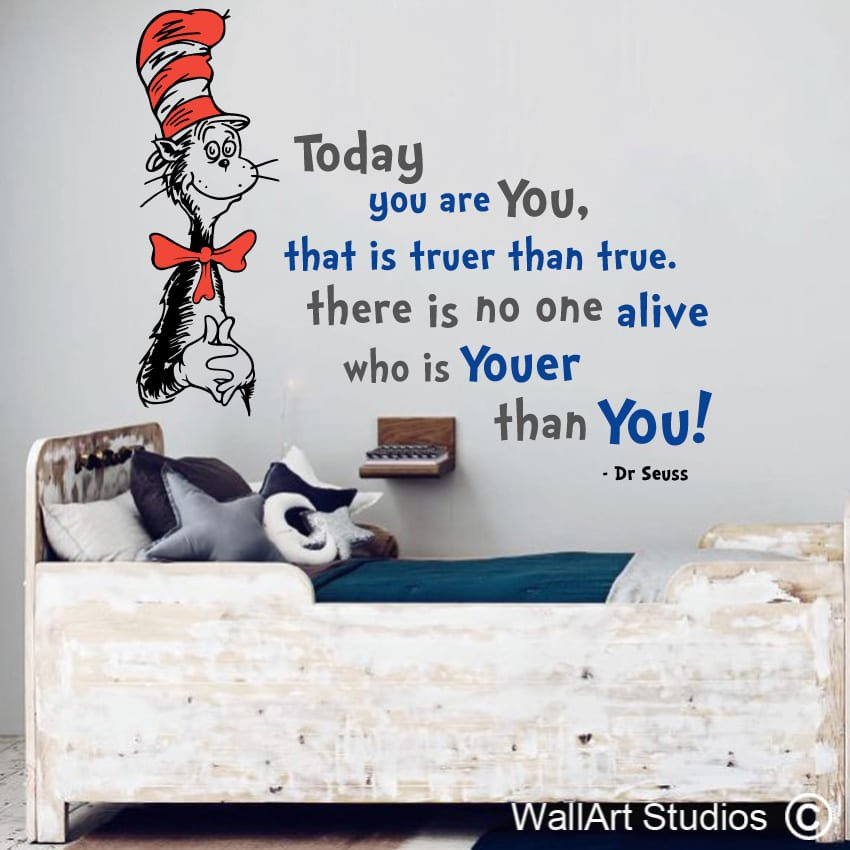 Oh the places you go wall vinyls wall art studios uk you are youer than you wall art decals gumiabroncs Image collections